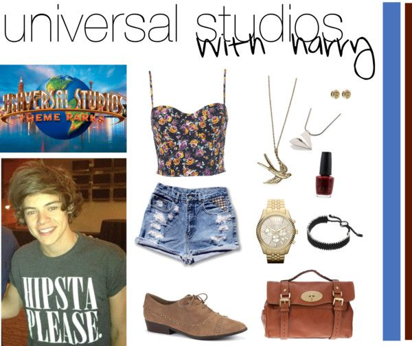 """""""Universal Studios with Harry"""" by judymoy ❤ liked on Polyvore"""