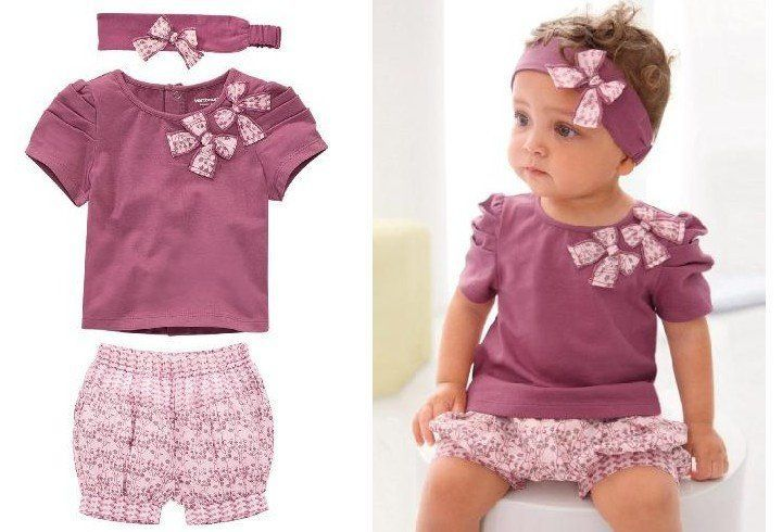Designer Newborn Baby Clothes Girl Gloss Sweet Sassy Little