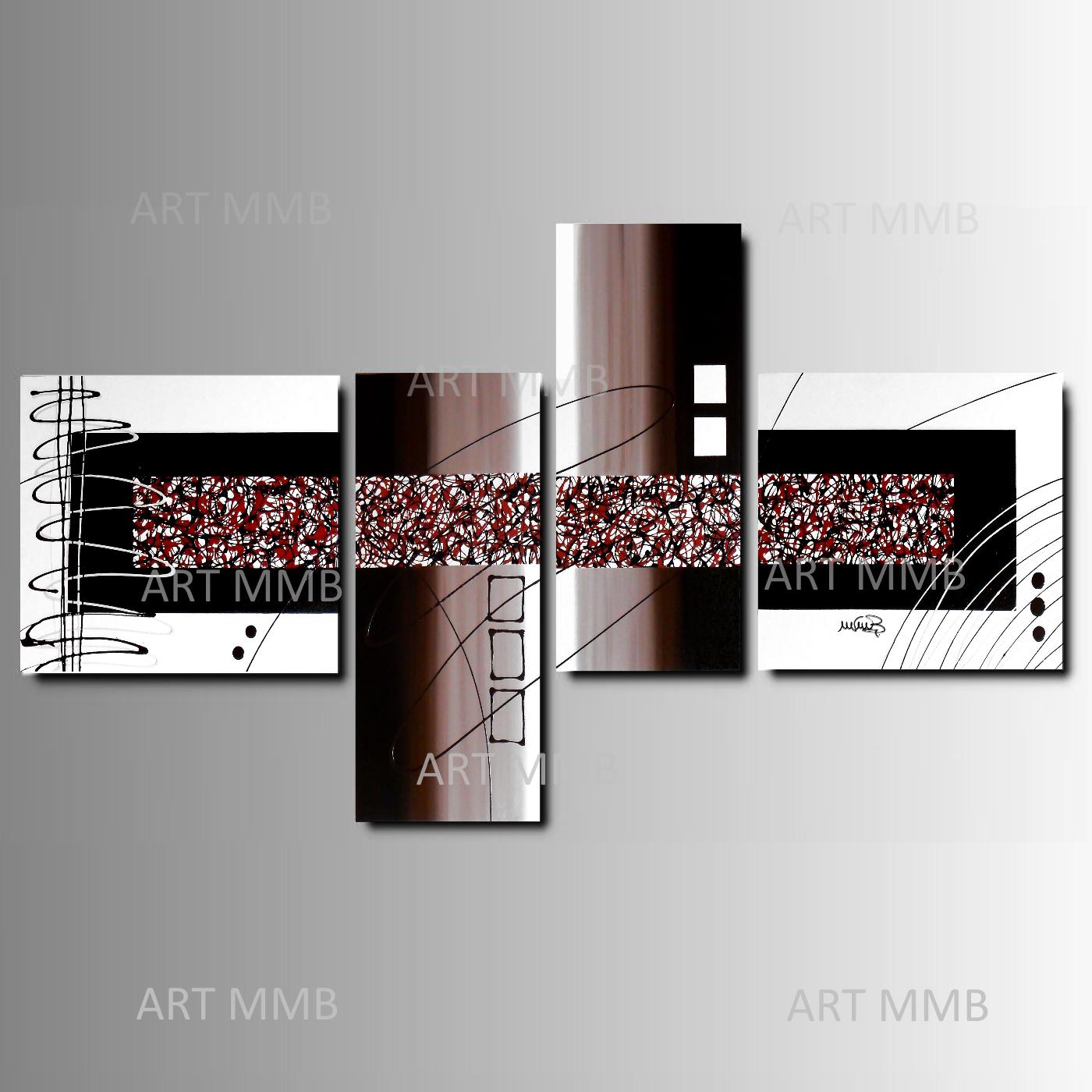 Produzione quadri moderni astratti 100 dipinti a mano 4 for Dipingere quadri moderni
