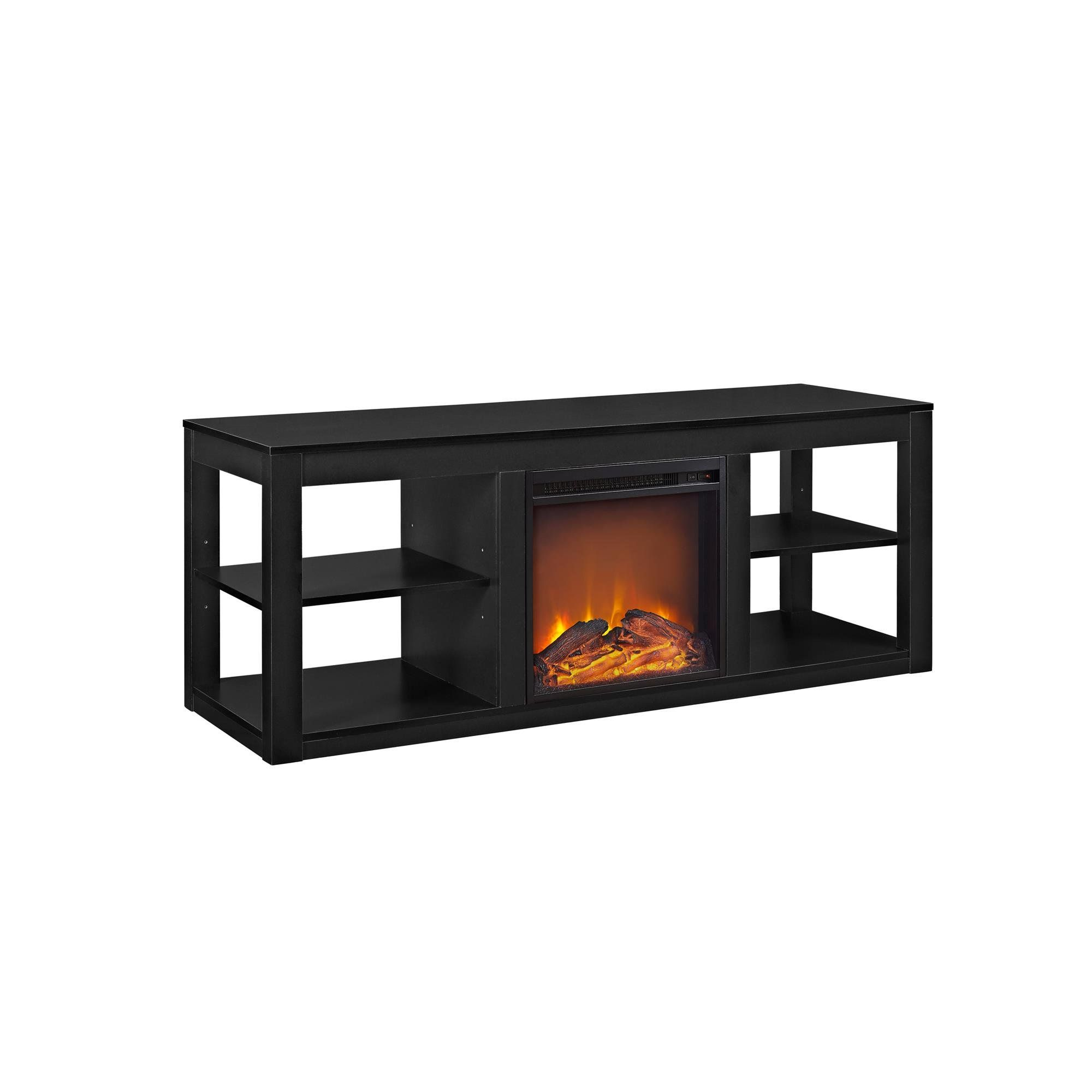 Altra furniture parsons electric fireplace tv stand for tvs up to