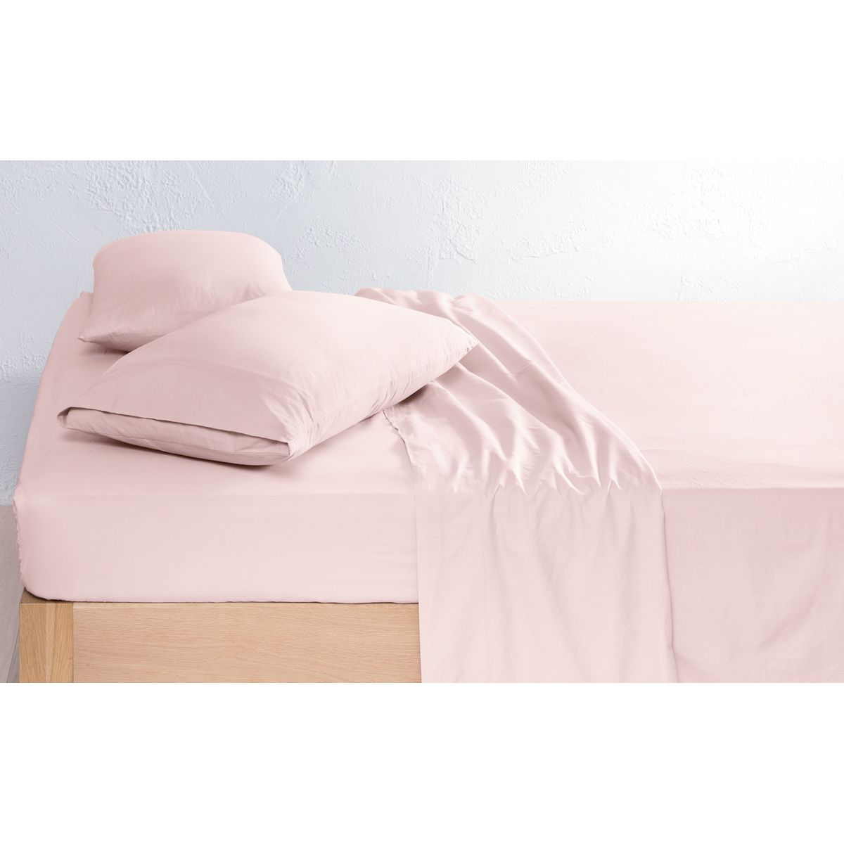 225 thread count vintage wash sheet set queen bed pink kmart