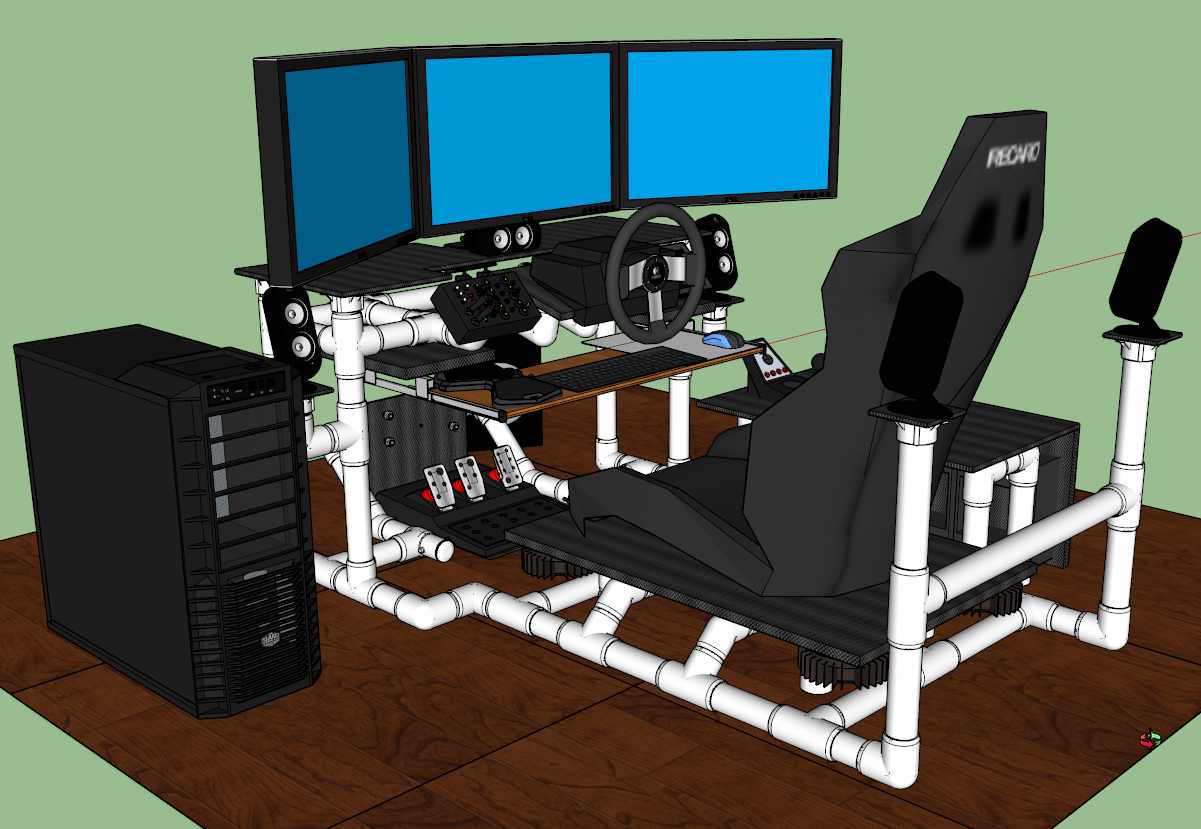 Sim Rig Gaming Desk My Diy Racing Rig Project