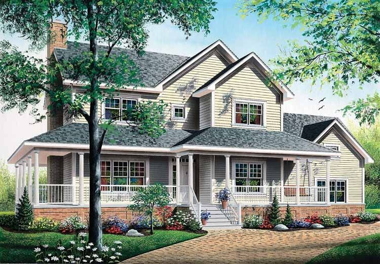 Eplans Farmhouse House Plan - Thoughtful Details - 2129 Square Feet on farm house designs, country shabby chic designs, country farm house, country garage designs, country estate designs,