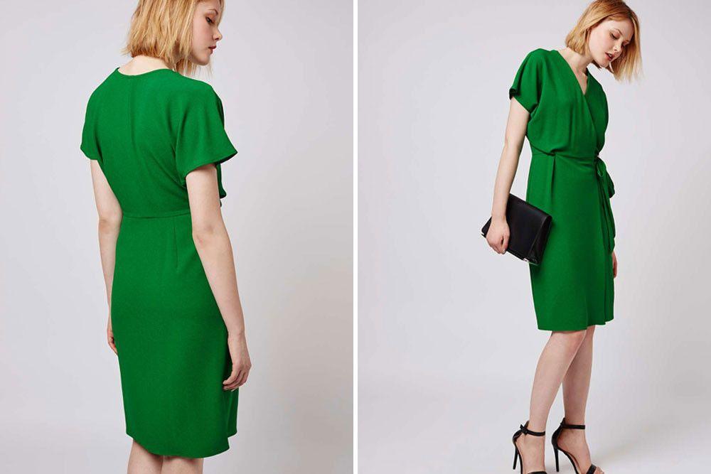 TopShop Green Wrap Dress | Wedding Guest Fashion | Occasion Wear ...