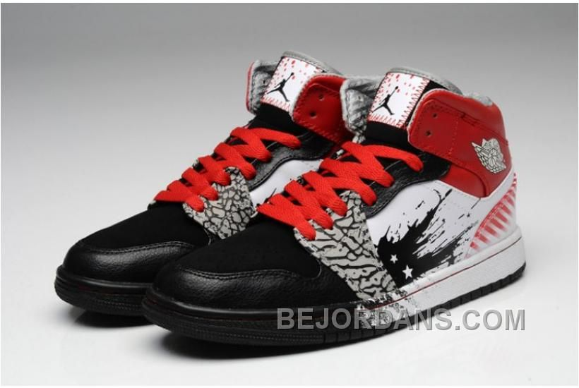 c6ebb3bb239bf8 Nike Air Jordan 1 High DW Mens Shoes Black   Sport Red   White All kinds of  Cheap Nike Shoes are provided in Nike store with superior quality and super  ...