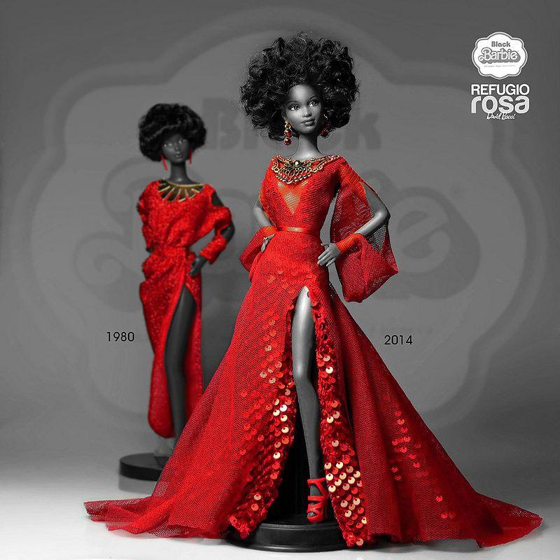 Black Barbie 2014 In 2019 ️gorgeous Barbie Dolls ️