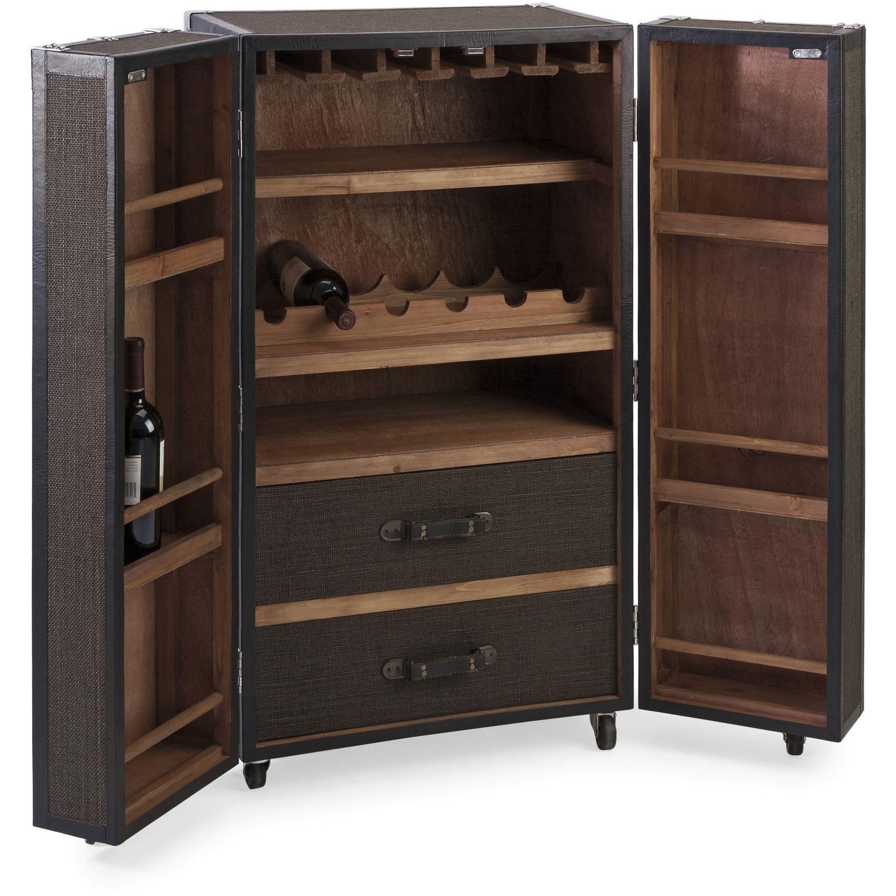 Pinot Rolling Wine Trunk Wine Bar Cabinet Wine Cabinets Furniture