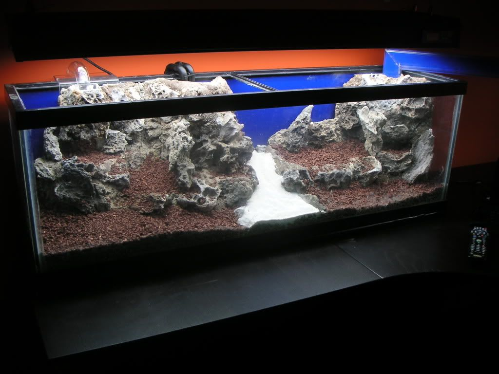 DIY foam rock aquascape