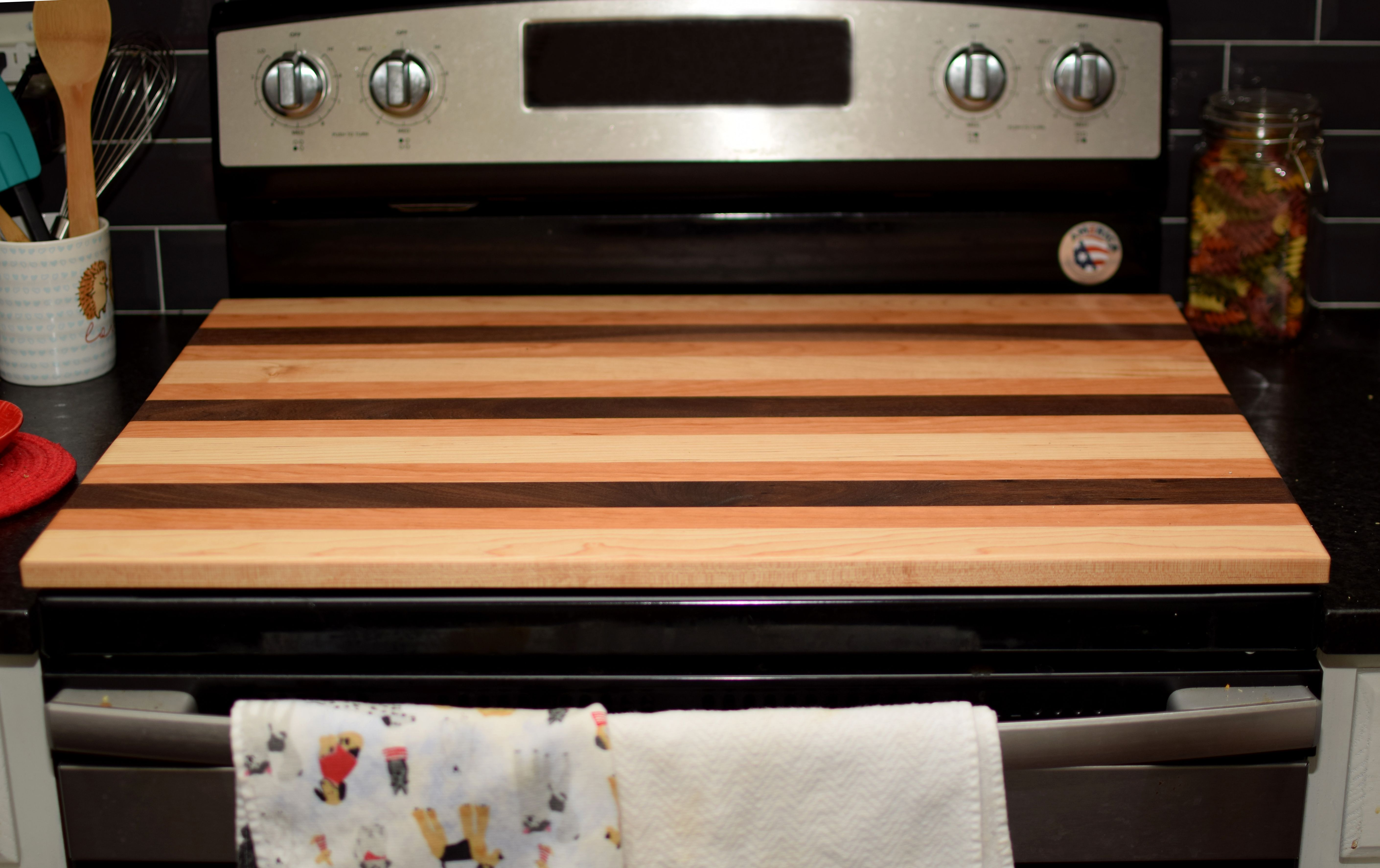 Custom Stove Top Cover Wooden Noodle Board Custom Stove Cover Expands Counter Space Serving Tray Farmhouse Decor Great Mother Gift Stove Top Cover Stove Noodle Board
