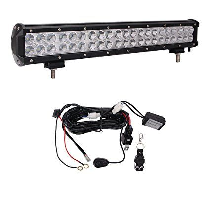 Led Light Bar Glotech 20 126w Cree Led Offroad Bar Light Spot Flood Combo Beam Ip67 Waterproof Car Driving Fog Light Led Light Bars Led Lights Waterproof Car