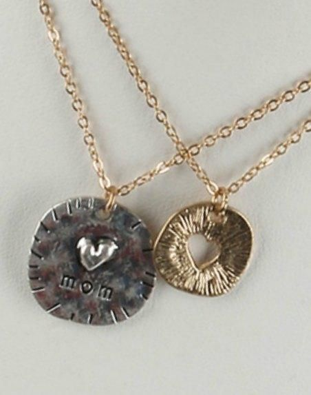 Mom Love Coin Necklace Set