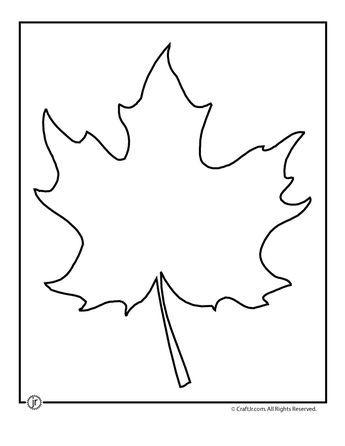 Leaf Template Printables Maple Leaf Template   Craft Jr