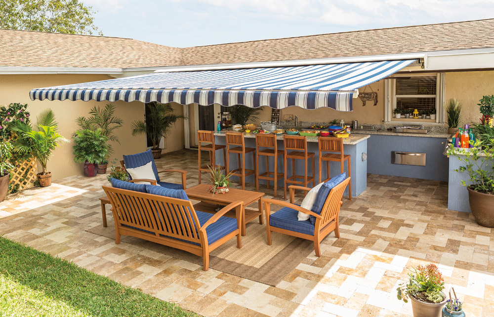 Sunsetter Motorized Retractable Awning 20x10 Ft Deck Patio Sunsetter Awning Ebay In 2020 Patio Backyard Entertaining Retractable Awning