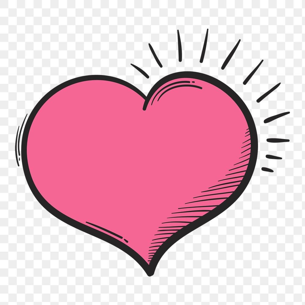Png Pink Heart Cartoon Doodle Hand Drawn Sticker Free Image By Rawpixel Com Neung How To Draw Hands Free Illustrations Doodles
