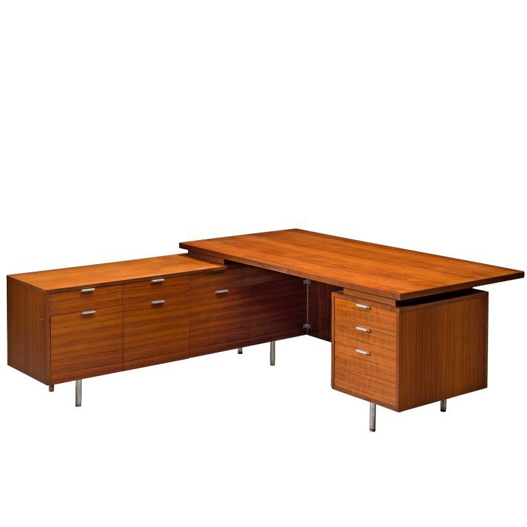 Herman Miller Desk Writing Table L Shaped George Nelson