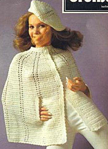 beret and cape crochet pattern free crochet pinterest. Black Bedroom Furniture Sets. Home Design Ideas