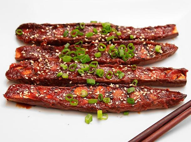 Japanese Miso-Glazed Eggplant  Follow my blog at www.custombodz.com #vegetarianrecipes #vegetarian #healthyrecipes