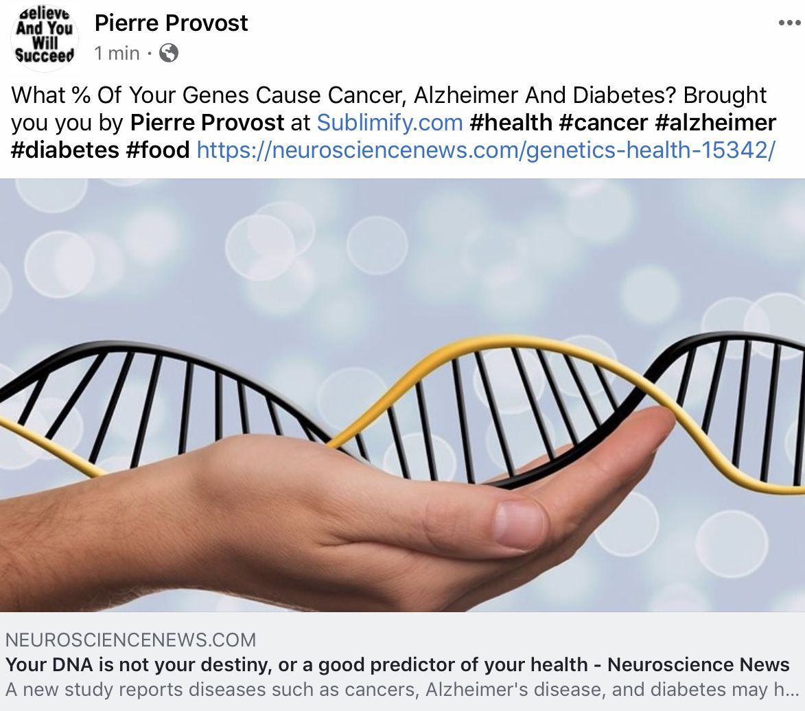 Your DNA is not your destiny, or a good predictor of your