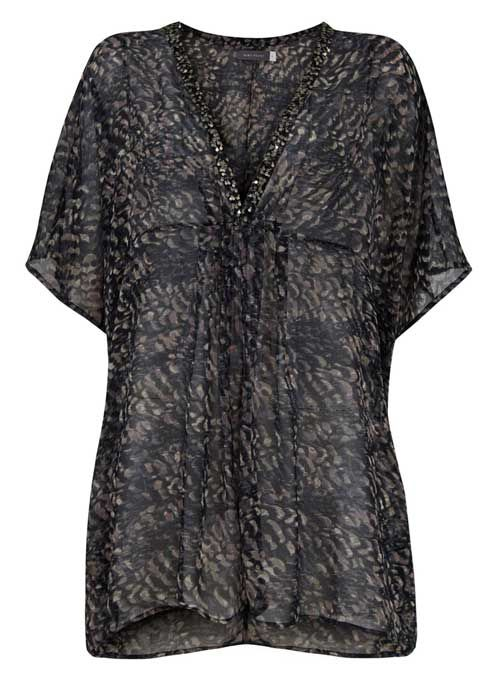 Lottie Print Beaded Kaftan - a must have for any beach holiday.