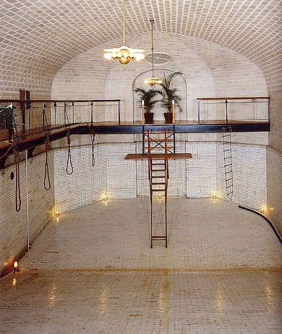 Biltmore House Pool 1895ropes To Cling To Steam Hose