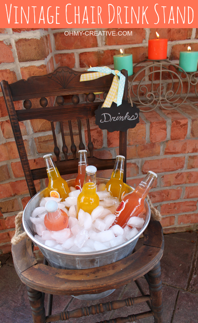 vintage chair drink stand oh my creative diy garden on fantastic repurposed furniture projects ideas in time for father s day id=63914