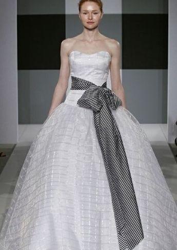 White Plaid Wedding Dress Strapless Wedding Dresses