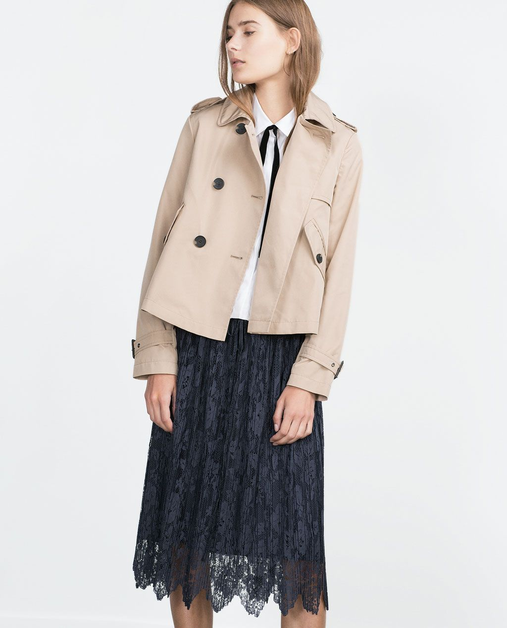 SHORT TRENCH COAT-View all-Outerwear-WOMAN | ZARA Malaysia