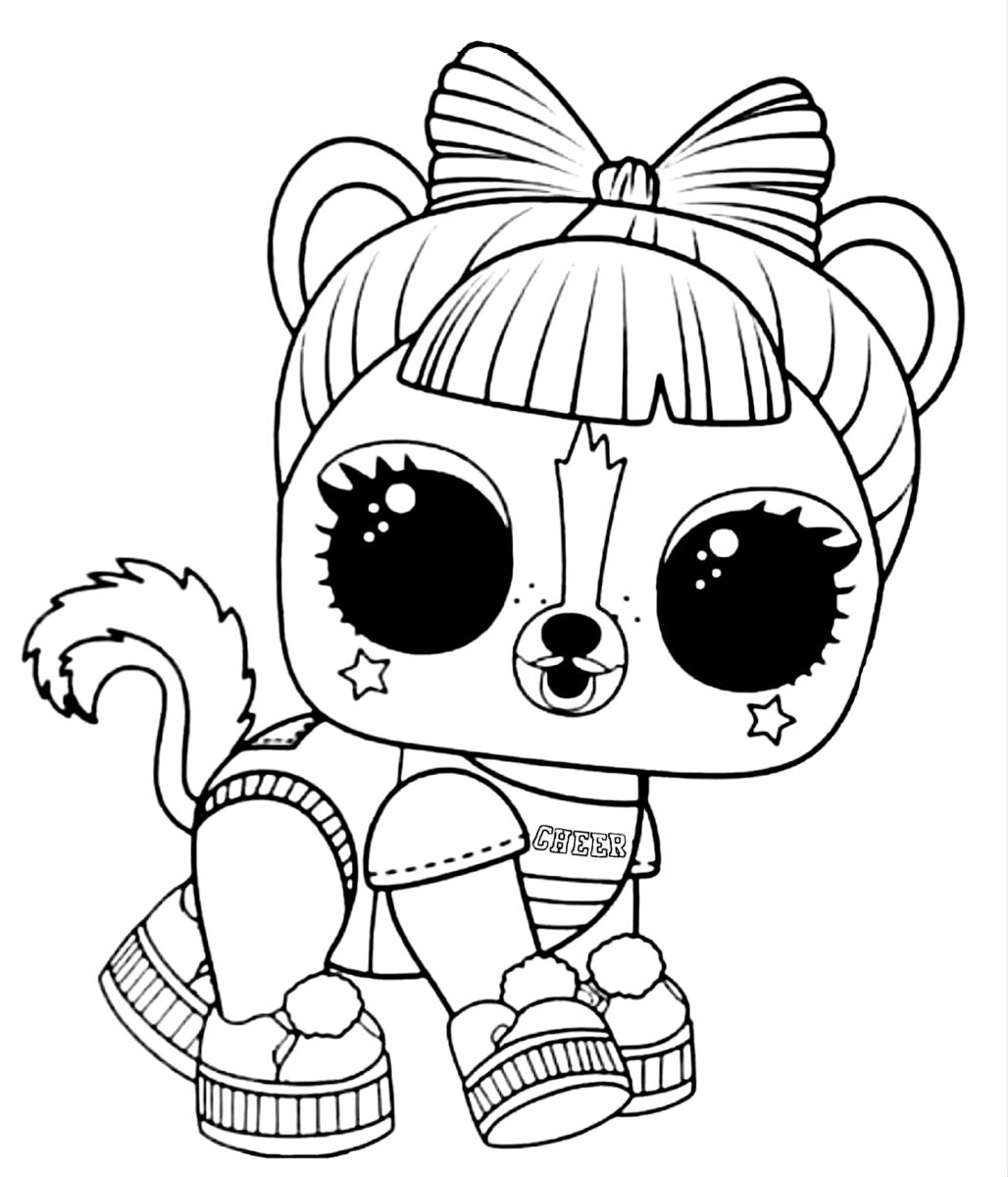 Lol Surprise Pets Ra Ra Skunk Winter Disco Series Coloring Pages Lol Dolls Drawings
