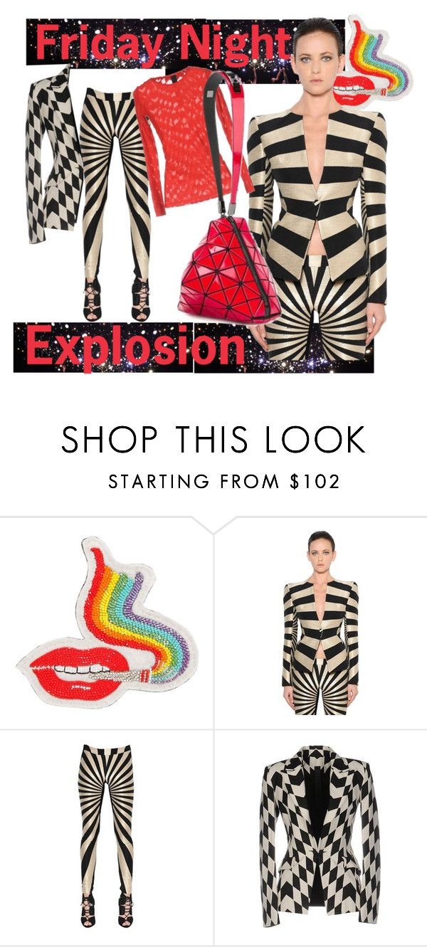 """""""Friday Night Explosion 💥"""" by p-tsouros ❤ liked on Polyvore featuring Olympia Le-Tan and Gareth Pugh"""