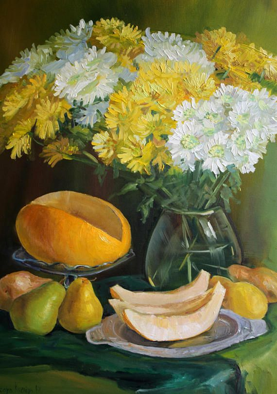 White yellow flowers gift for housewarming flower oil painting white yellow flowers gift for housewarming flower oil painting mightylinksfo