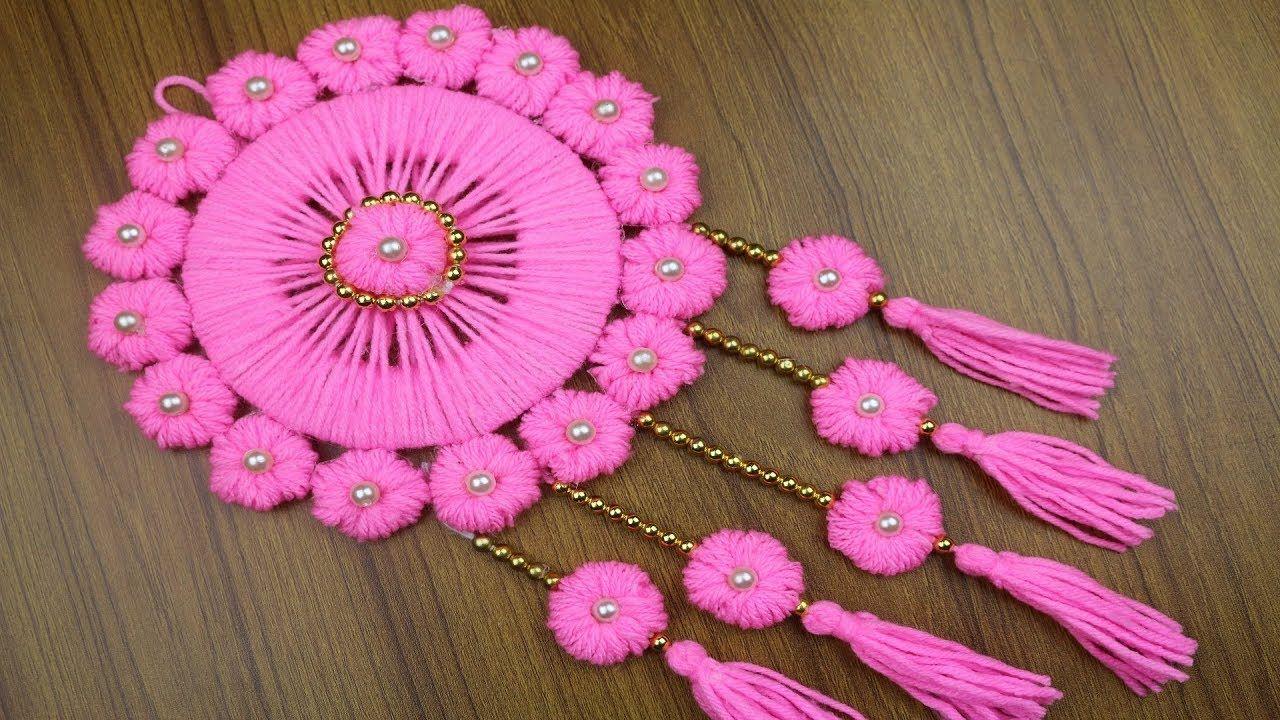 Woolen Craft Idea How To Make Woolen Door Hanging Toran Best