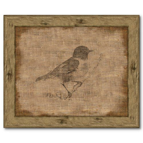 Find it at the Foundary - 13 x 11 Bird on Antique Linen II$55.00