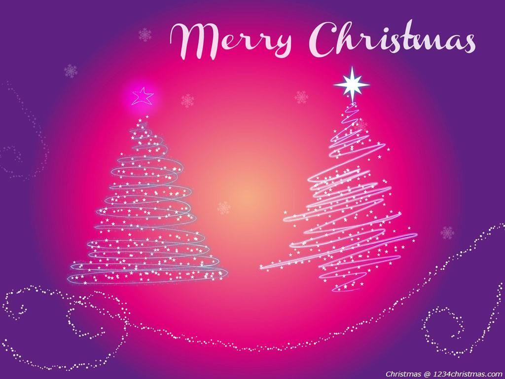 Pink Christmas Tree Wallpaper Download