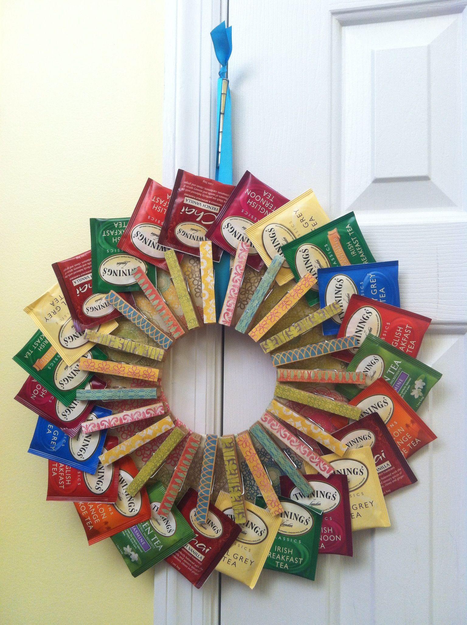 Tea bag wreath. It was fun to make:)   Things I've made ...