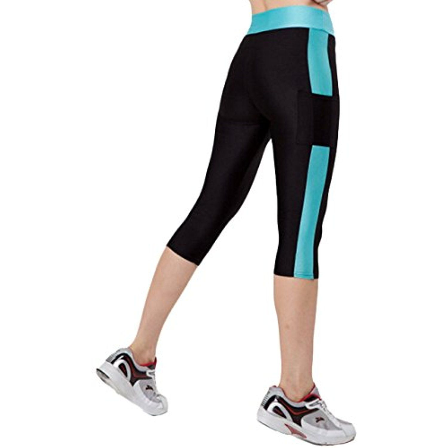 6a91992d5c4 AKENA Women Sports Running Stretch Leggings Slim Fitness with ...