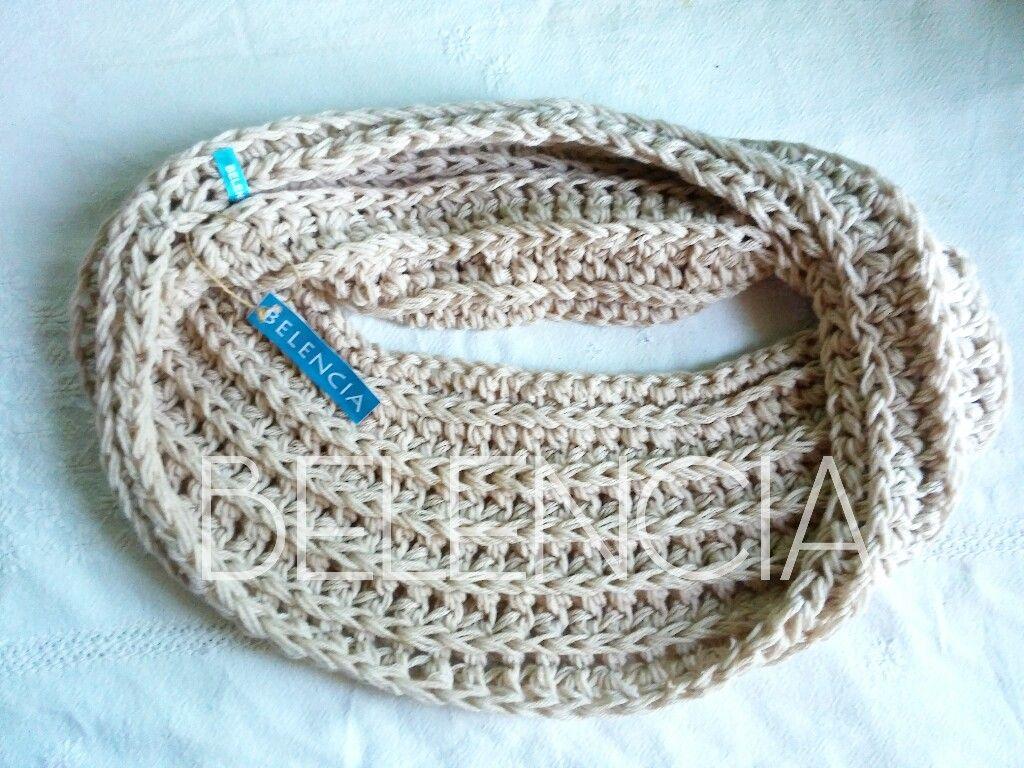 Cuello doble Chunky Belencia. Knitting designer and owner: Belen Fuentes. Facebook.com/belenciatejidos Instagram: @belenciatejidos