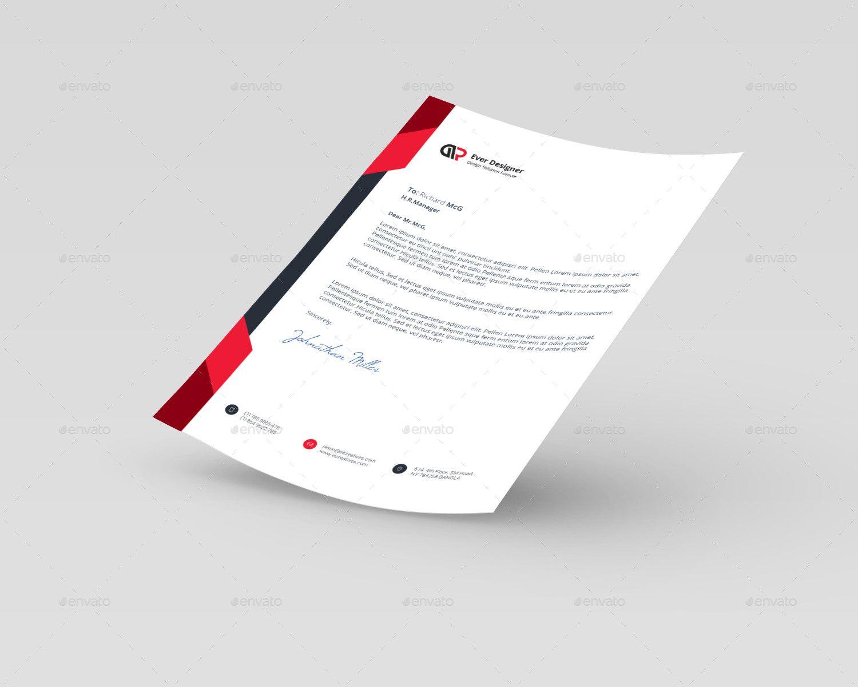 Beautiful Business Letter Head Corporate Letter  Letterhead