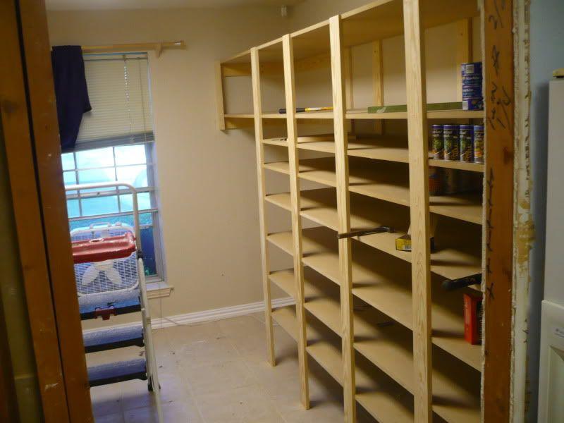 Food Storage Shelves! I Havent Seen Any DIY Plans!