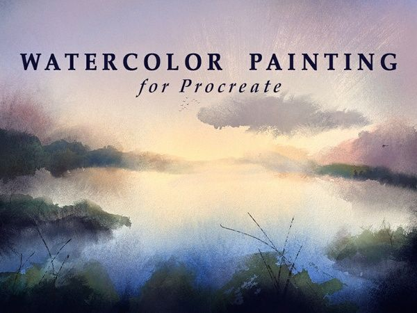 Drawing Straight Lines With Procreate : Watercolor painting for procreate artrage