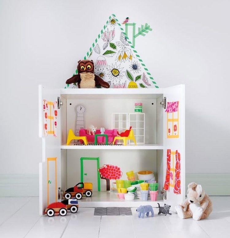 Fabulous Puppenhaus selber bauen oder alternativ in einem Ikea Schrank gestalten