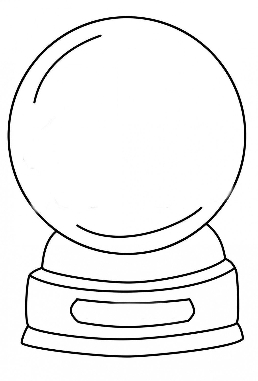 Christmas Globe Coloring Pages Graphic Allowed To Help My Own