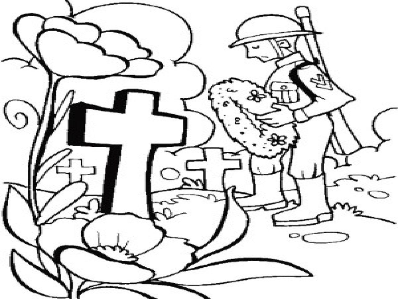 Happy Memorial Day Coloring Pages Free Printable Download