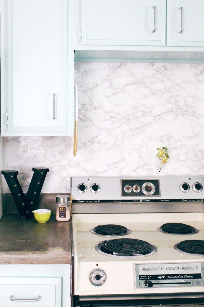Diy Marble Contact Paper Backsplash Home Decor Diy Contact