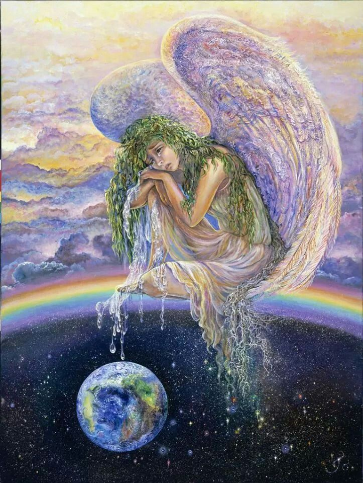 "Josephine Wall "" Weep for the World "" angels. Angel. Art"