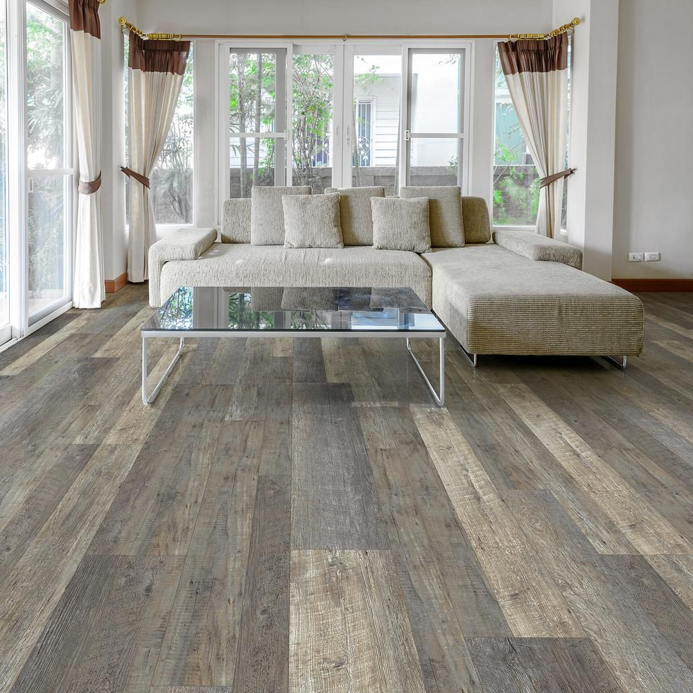 Plastic Flooring For Home: LifeProof Metropolitan Oak Multi-Width X 47.6 In. Luxury