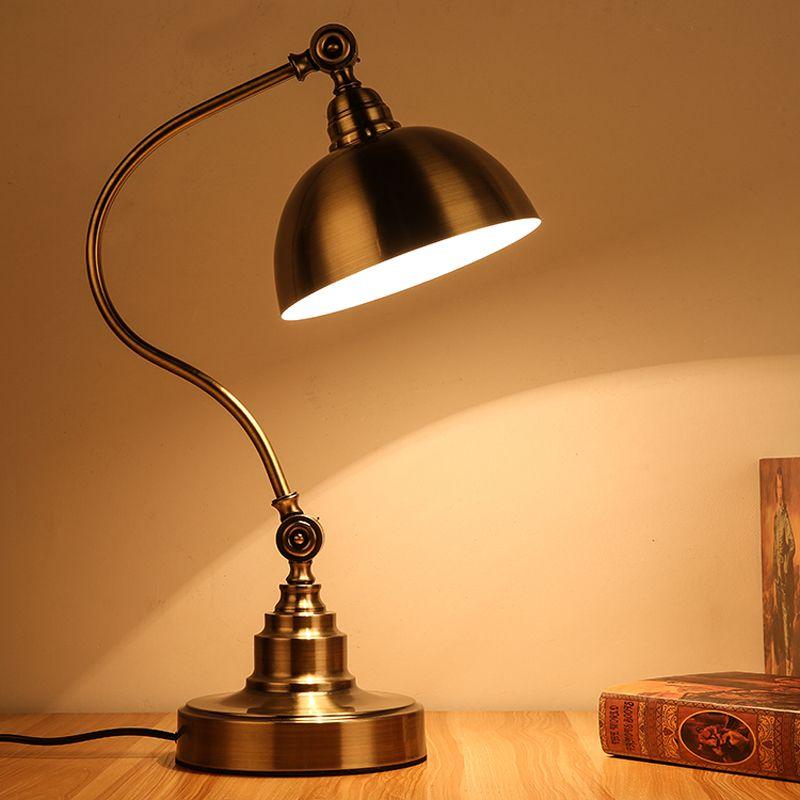 Led Work Lamp Lighting Light Office Desk Lamp European Style Bronze Vintage Table Lamps Reading Study Room Table Li Antique Table Lamps Vintage Table Lamp Lamp
