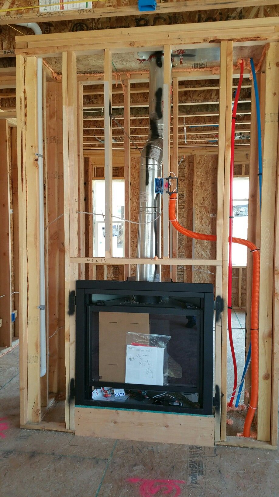 Fireplace and smurf-tube. Shouldn\'t it be blue? | My Tri Pointe ...