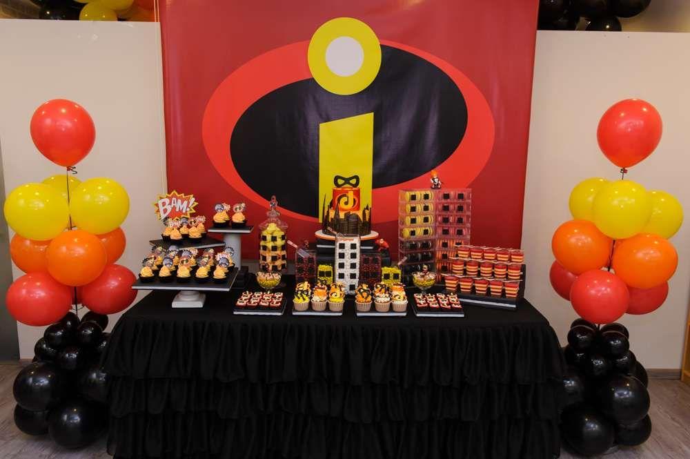 The incredibles birthday party ideas fiestas tem ticas - Ideas para cumpleanos 18 ...