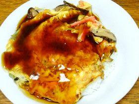 中華鍋だけでカニカマ天津飯