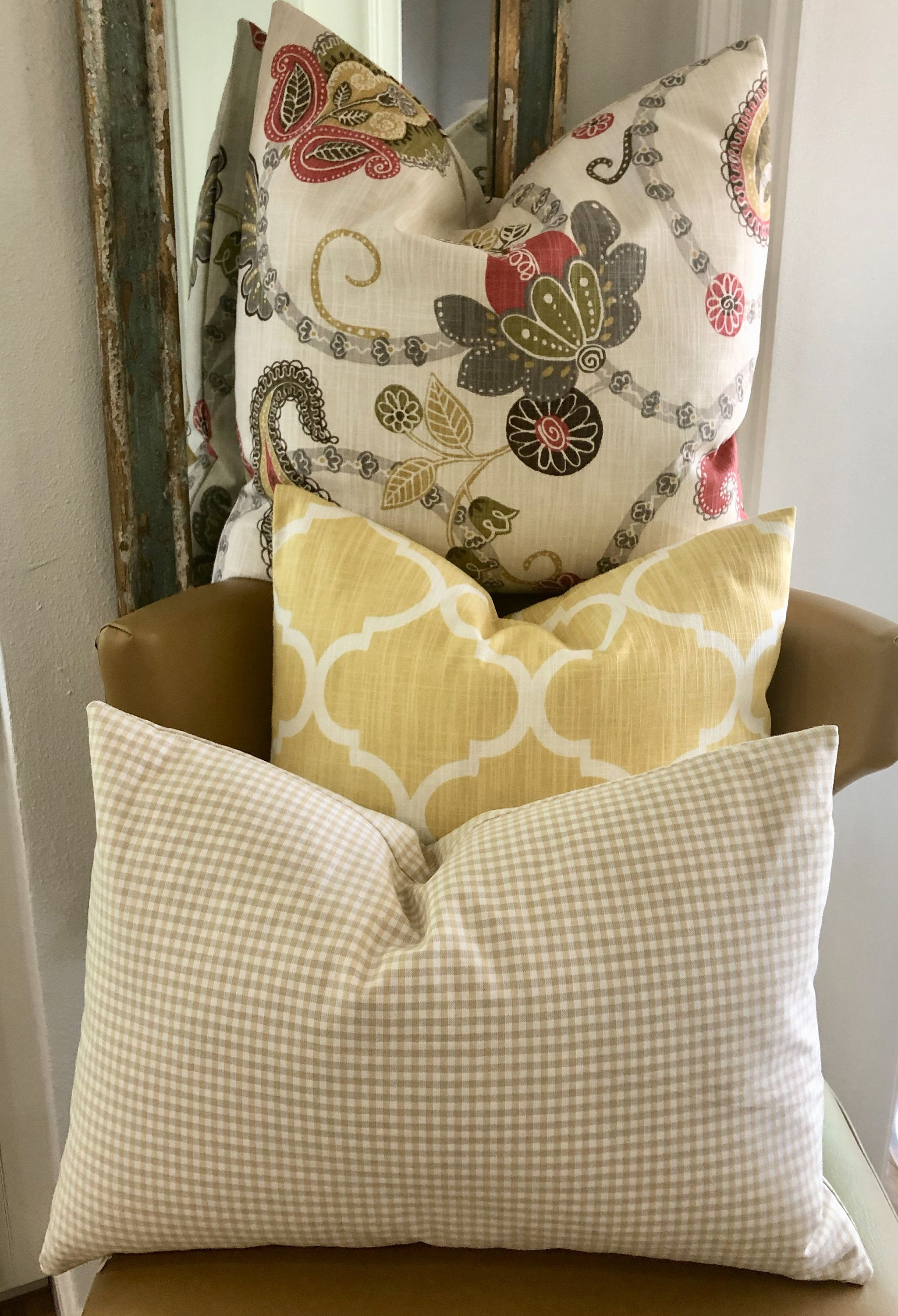 Buy the set three farmhouse curated set of pillow covers